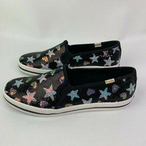 Keds Shoes - Keds Kate Spade Double Decker Black Sequin Flats
